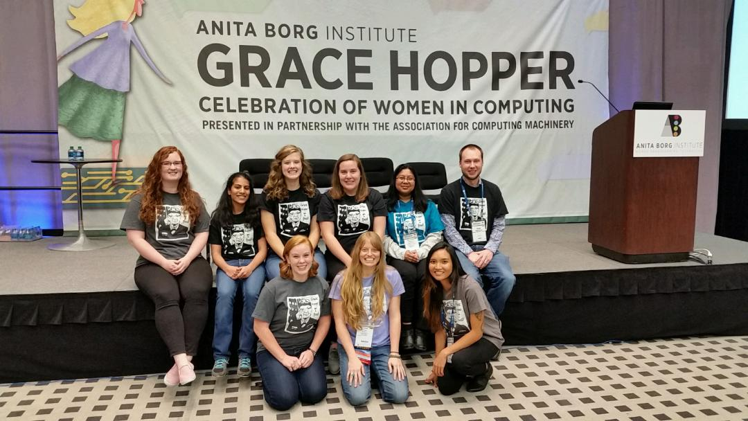 Group picture at Grace Hopper Conference